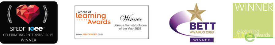 Business simulation business game awards won by the SimVenture team