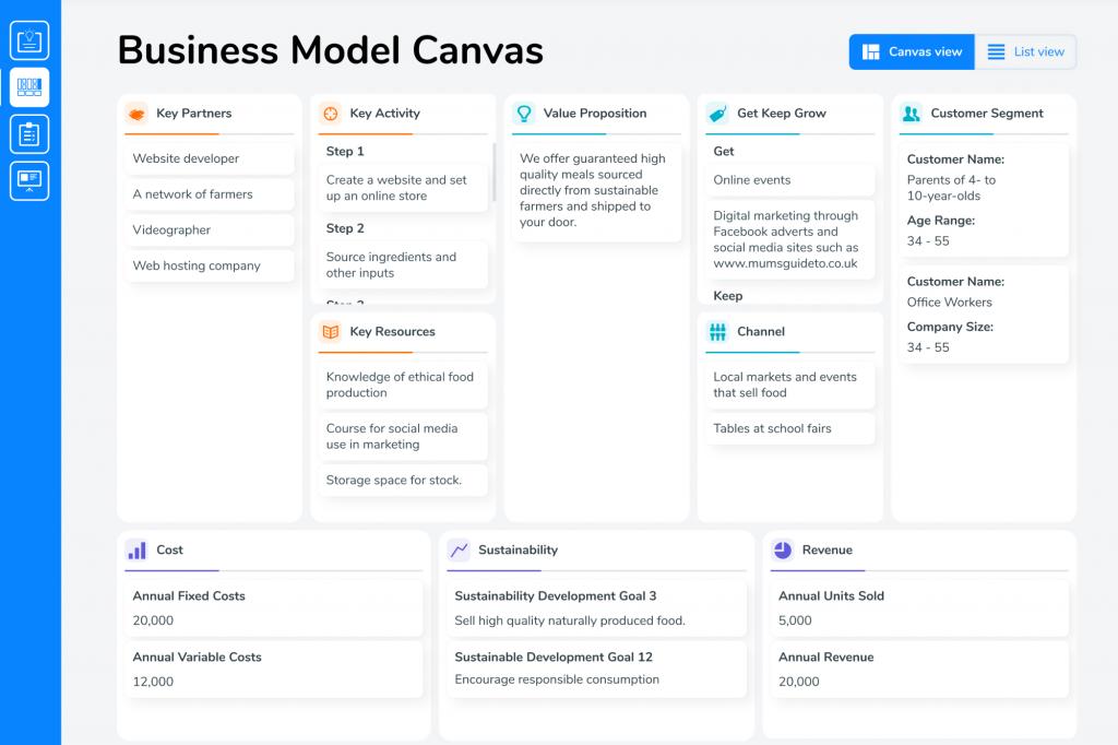 Validate Business Idea Generator  Business Model Canvas.