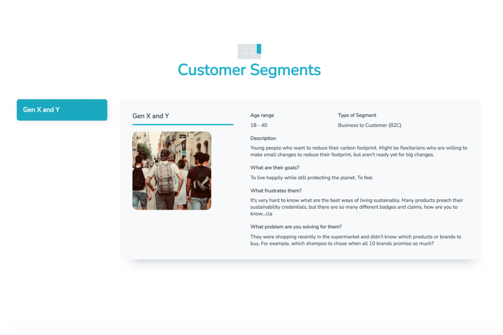 simventure validate customer segments