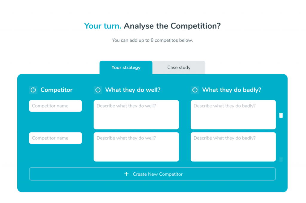 Analyse your business competition