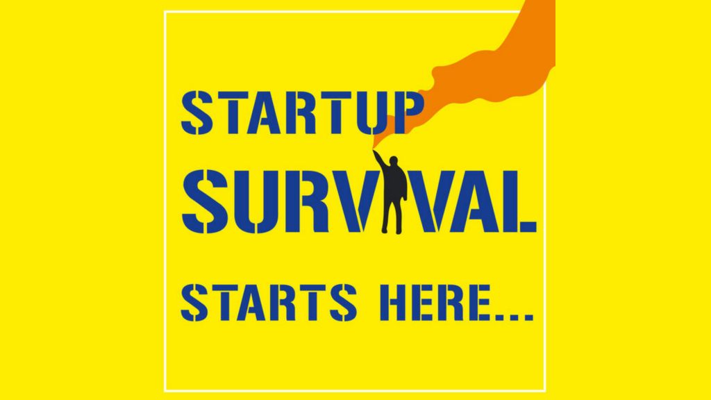 Startup Survival Podcast logo: a podcast about Entrepreneurship Education.