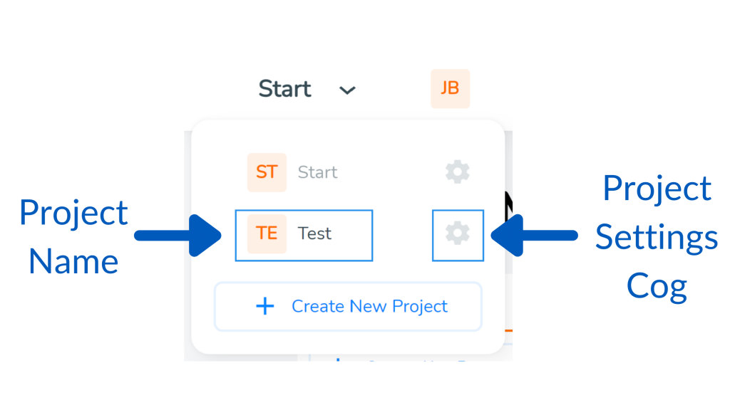 Click the project settings cog in SimVenture Validate to set up a team.